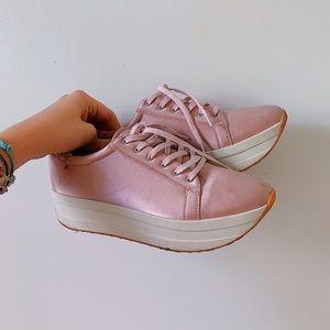 Vagabond Shoes | Uk Pink Satin Platform Sneakers Sz 40 95